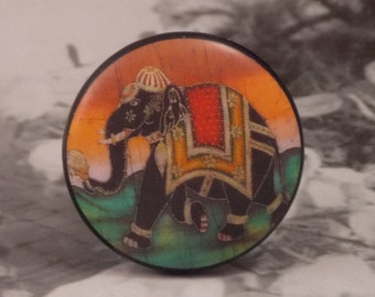 "1-1/2"" Elephant Dresser Knobs - Black Persian Elephant Knobs"