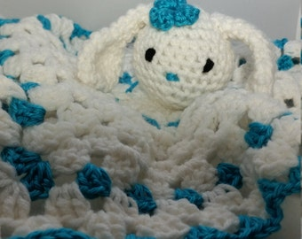 Bunny Rabbit Lovey - Baby Secuirty Blanket - Choose your colors