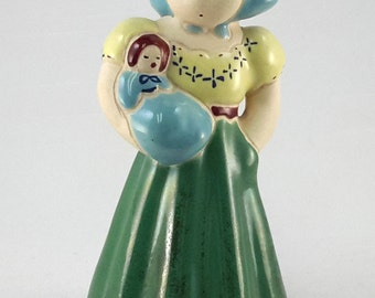 Robinette Lawthorne California Figurine Girl With Baby Doll Mid-Century