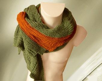 Women's Triangle Scarf Knit Wrap Baby Alpaca Knit Scarf Shawl Womens Shawl Gift