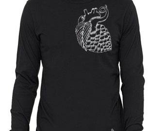 Craft Beer t-shirt- Hop Heart- long sleeve