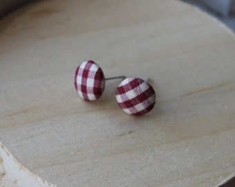 Fabric Button Ear Stud