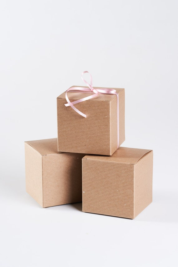 Gold Favor Boxes 4x4x4 : Gift box with lid kraft boxes x by soiree supply