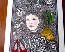 The Wizard of Oz Print by Posterography