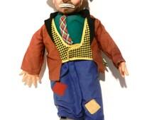 Vintage Emmett Kelly Clown w/ Light up Nose