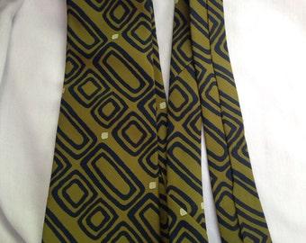 1960s Tie Rite Neckwear green atomic necktie