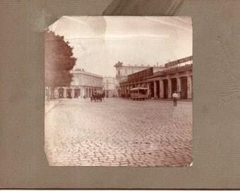Antique Photo of Spanish Street Scene