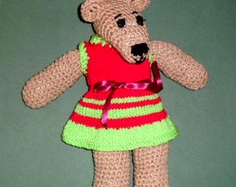 BELINDA BEAR the crochet bear.