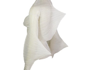 Vintage Issey Miyake Sculpted Geometric Pleated Blouse 1990s
