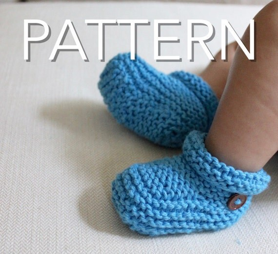Baby Booties Pattern // Beginners Pattern // Knit Booties