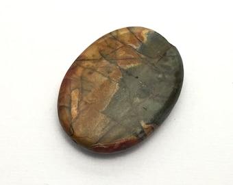 1 Picasso jasper stone bead / 30mm x 40mm  #PP014-9