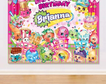 YOU PRINT Shopkins Poster, Door Greeter, Welcome Sign, Treat Table Sign, Food Table Sign