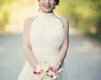 Simple wedding dress, Classy bridal Gown, Casual Wedding Dress, Simple design, Modest wedding dress, simple gown