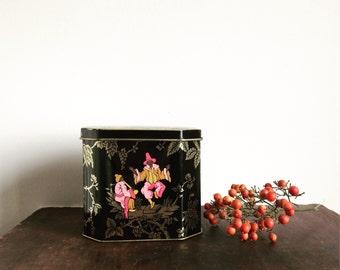 Vintage oriental style tea tin Melrose tea company tea tin asian decor