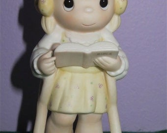 1986 Precious Moments He Walks With Me Figurine By Enesco (Special 1987 Limited Edition) - Free Shipping