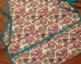 Colorful Day of the Dead Skull Apron