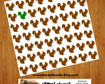 Squirrel Planner Stickers, 56, Squirrel Stickers, Squirrel Sticker Set, Squirrel Envelope Seals, Squirrel Envelope Stickers, Squirrel