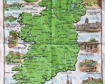 Causeway Scenic Ireland Souvenir Linen Tea Towel