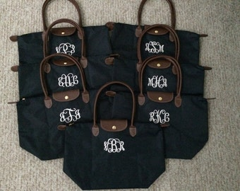 Monogrammed Tote Bag | Large Nylon Weekender Bag | Birthday, Bridesmaids, Mother's Day, Graduation, Christmas, Sorority