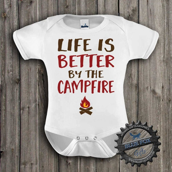 Baby Clothes Camping Baby Clothes Life is better by the