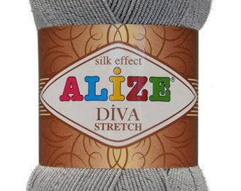 Alize Diva Stretch. Elastic yarn. Summer yarn.
