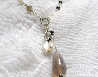 Eclectic Necklace, Modern Pearl Necklace
