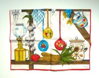 Tea Towel, Kreier, Linen Towel, Switzerland, Linen Towel, Vintage Tea Towel, Towel Linen, Vintage Linen Towel