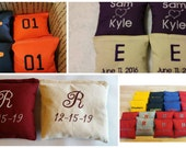 Embroidered Cornhole Bags - Personalized Bean Toss Bags - Corn Hole Bags - Custom