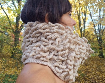 25% OFF Crocheted tubescarf Ivory_PIRULO (was 74 EUR before)
