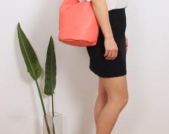 VENTE! -30 % corail cuir sac, sac, sac seau, corail JADE sac