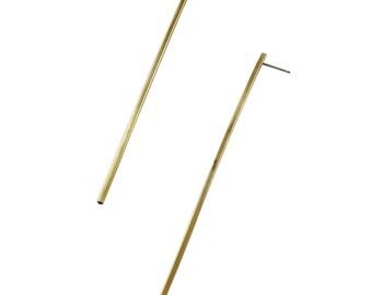 The Brass Bar Stud Earrings