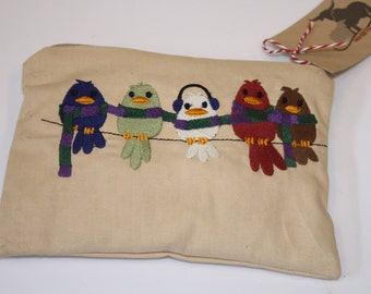 Cozy Birds Knitting/Crochet Notions Pouch