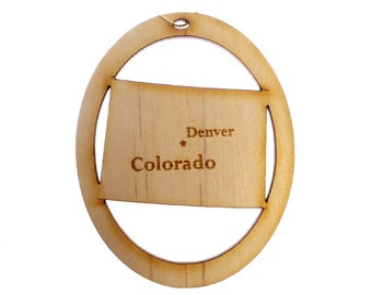 Colorado Ornament - Colorado State Ornaments - Colorado Gift - Colorado Christmas Ornament - Colorado Gifts - Personalized Free