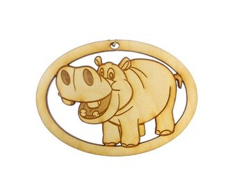 Hippo Ornament - Hippo Ornaments - Hippo Gift - Christmas Hippo - Hippo Decor -Hippo Art -Hippopotamus Gift -Hippo Favors -Personalized Free