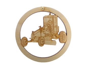 Heavy Equipment Operator Ornament - Construction Worker Gifts - Heavy Equipment Gift - Construction Ornament - Personalized Free