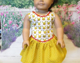 Pika Pika fits American Girl Doll and 18 inch dolls