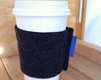 Reusable Felt Coffee Cup Sleeve / Cuff / Cozy - various colors availabale