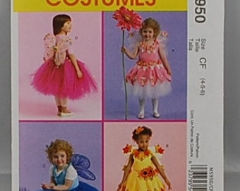 McCalls 5950 - Girl's Fairy Costume Pattern - Sizes 4, 5, and 6 - Fairy Pattern