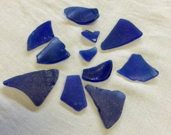 Real Blue Sea Glass