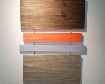 Mark 2 Wall Sculpture, Wood Wall Art, Mid-Century Modern, Rothko, Minimal, Geometric, Retro, Contemporary, Abstract, Wall Decor, Art Objects