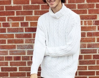A beautiful vintage white turtleneck shirt.