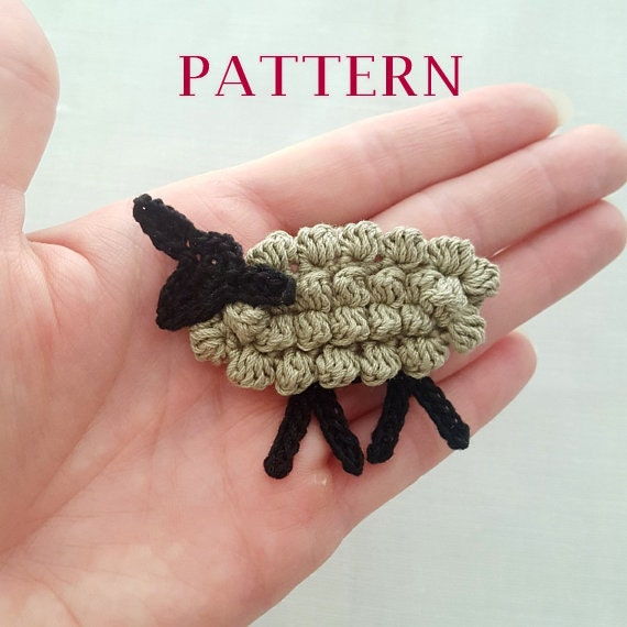 Crochet sheep pattern crochet lamb pattern sheep charm