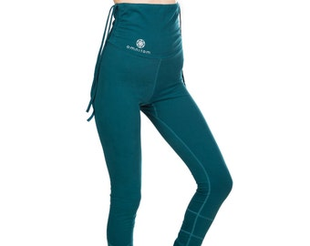 Organic Cotton Leggings, Festival Clothing, Elven Clothing, Women Leggings, Pixie Clothing, Turquoise Leggings, Fairy Clothing, Yoga Pants