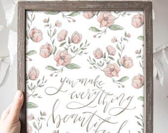 SALE // Everything Beautiful Print