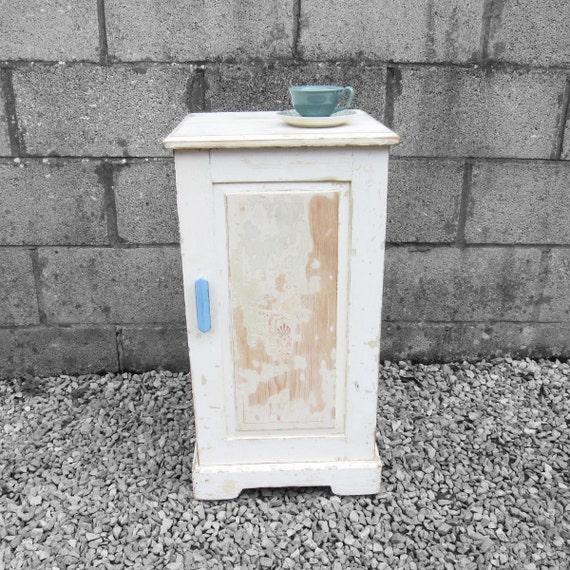 Rustic Pot cupboard Lamp Bedside Table Art Deco 1930s Pine
