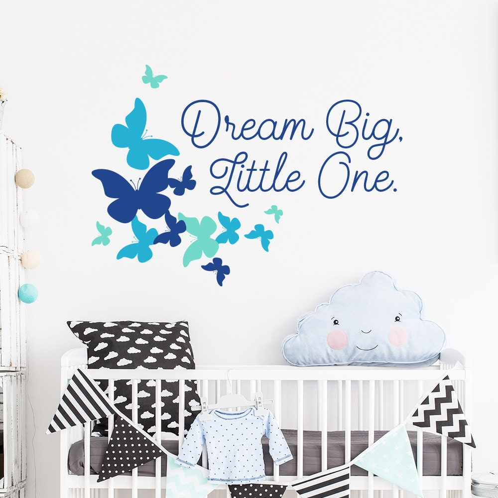 Quote Wall Stickers For Nursery : Dream big little one quote wall sticker nursery decal