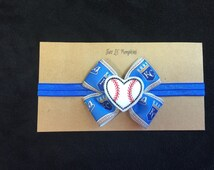 Kansas City Royals Inspired Baby Headband, Royals Bow Headband, KC Royals Baby Gift, Royals Baseball Feltie Headband