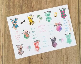 BEACH DAY Planner Stickers