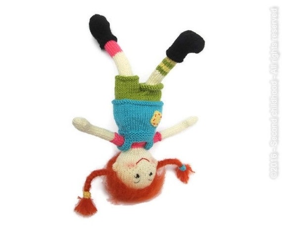 Pippi longstocking amigurumi doll knitted by ...