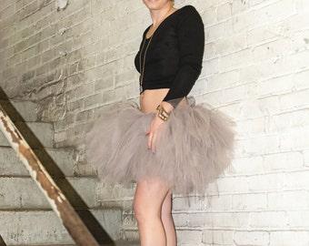 Tutu - Grey Tutu - Tulle Skirt - Ballet Tulle Skirt - Bachelorette Skirt - Twelve Inch Tutu - Fun Tutu - Running Tutu
